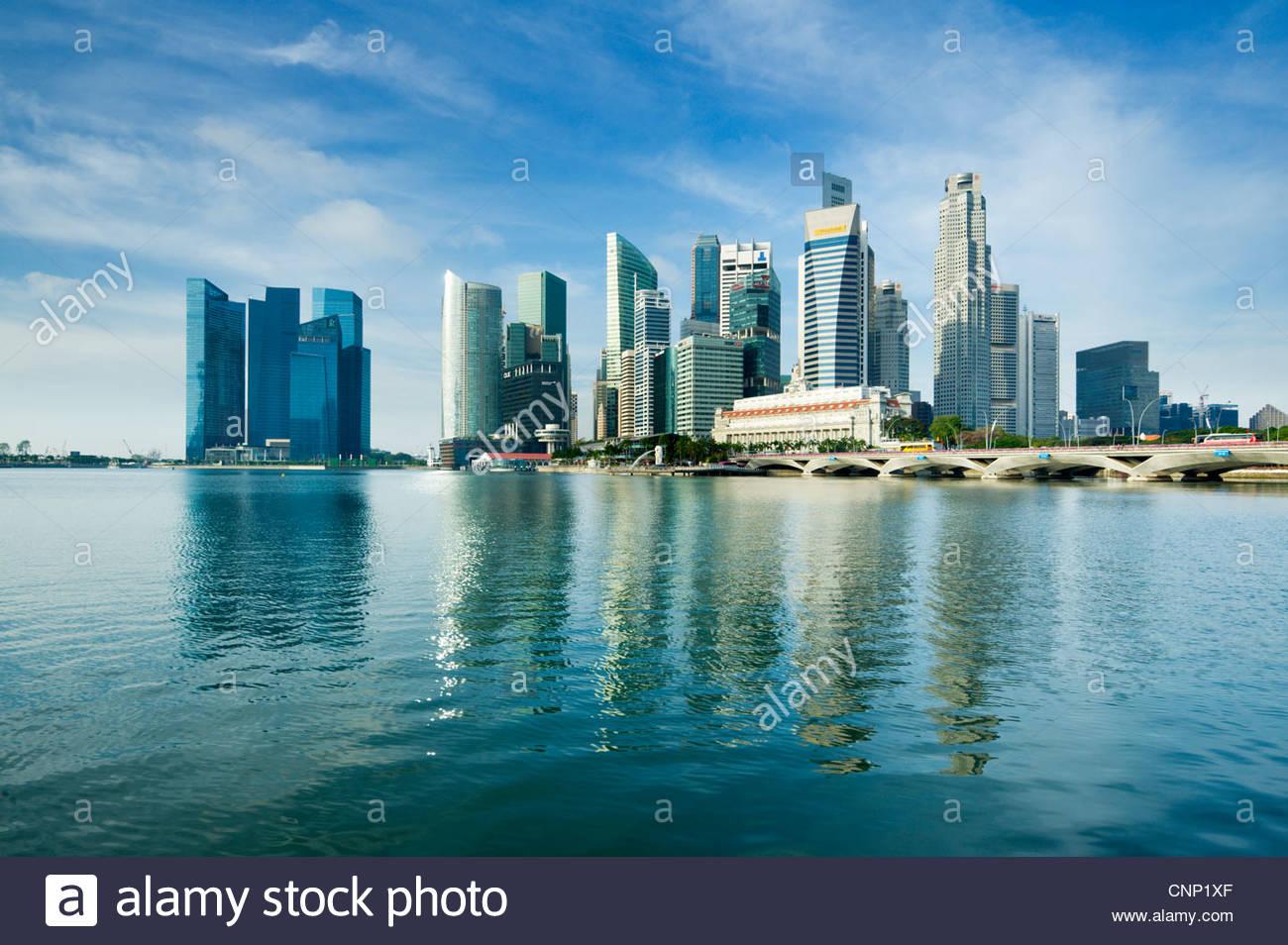 Der Central Business District, Singapur Stadt. Stockbild