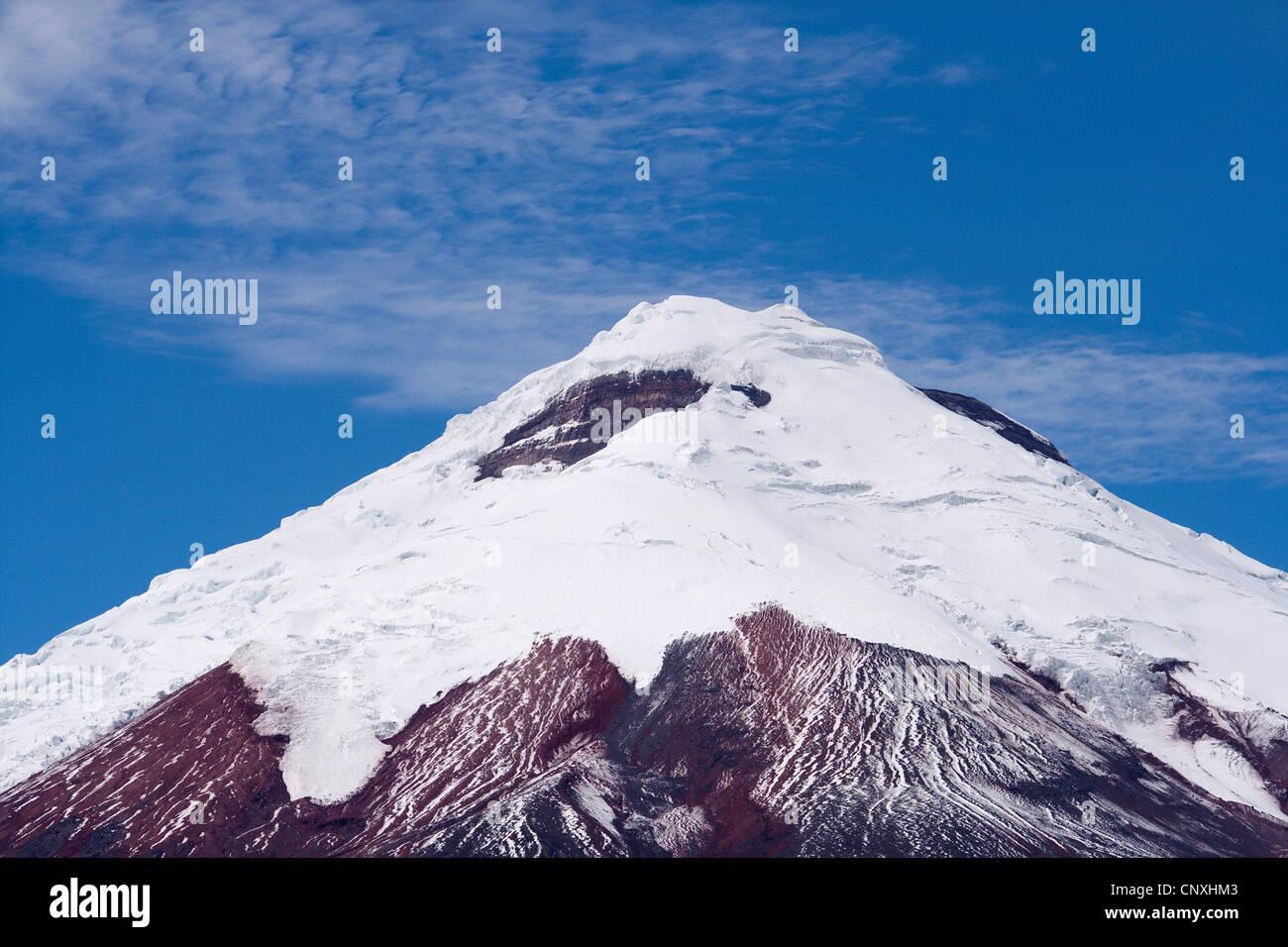 Gipfel des Cotopaxi Vulkan, Ecuador, Anden, Cotopaxi-Nationalpark Stockbild
