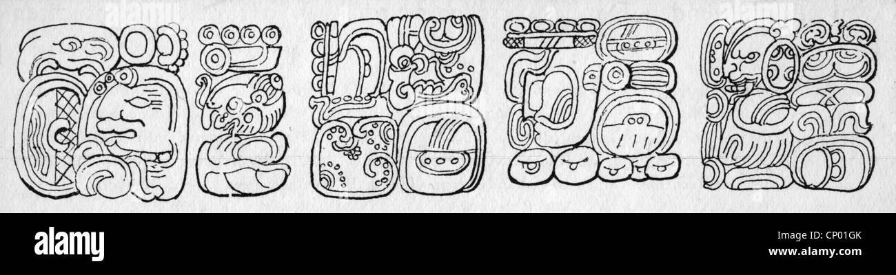 schreiben schrift s damerika maya hieroglyphe auf maya. Black Bedroom Furniture Sets. Home Design Ideas