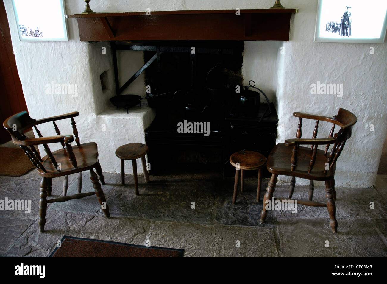 Pearses der Hütte am Rossmoc Connemara Co Galway Irland wiederhergestellt. Ausgeführten 1916 Stockbild