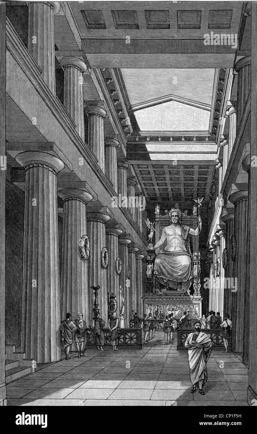 """Zeus (lateinisch: Jupiter), Griechisch """"göttlichen König"""", Führer der Götter, Gott Stockbild"""