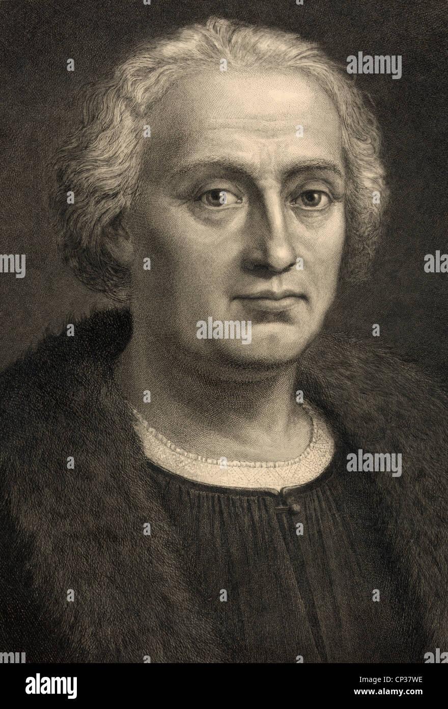 Christopher Columbus 1451-1506. Italienisch Spanisch geboren finanziert Explorer Entdecker Amerikas. Stockfoto