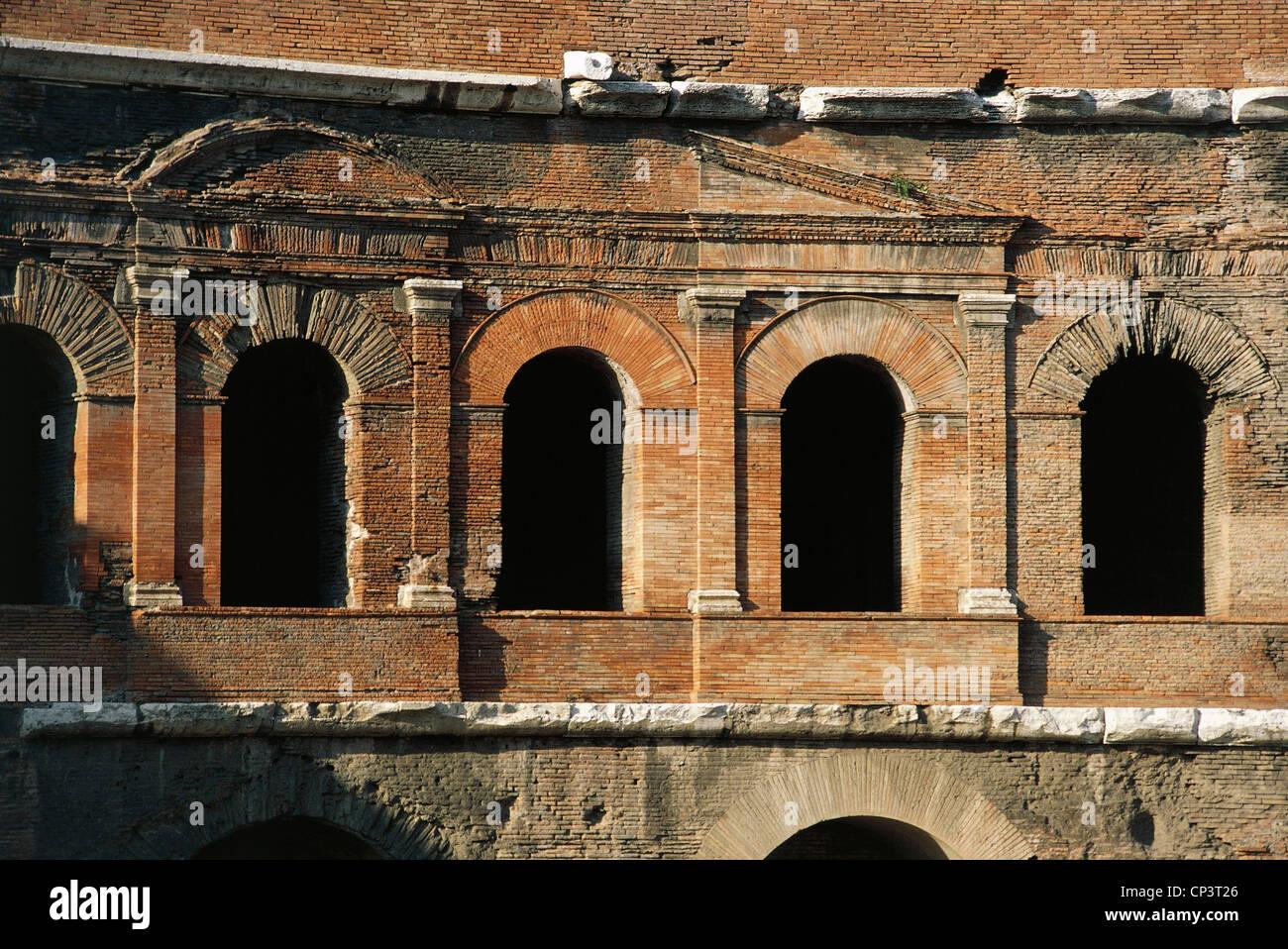 Lazio Rom Imperial Forum Forum des Trajan Trajans Märkte, ersten Jahrhundert n. Chr., Architekt Apollodorus Stockbild