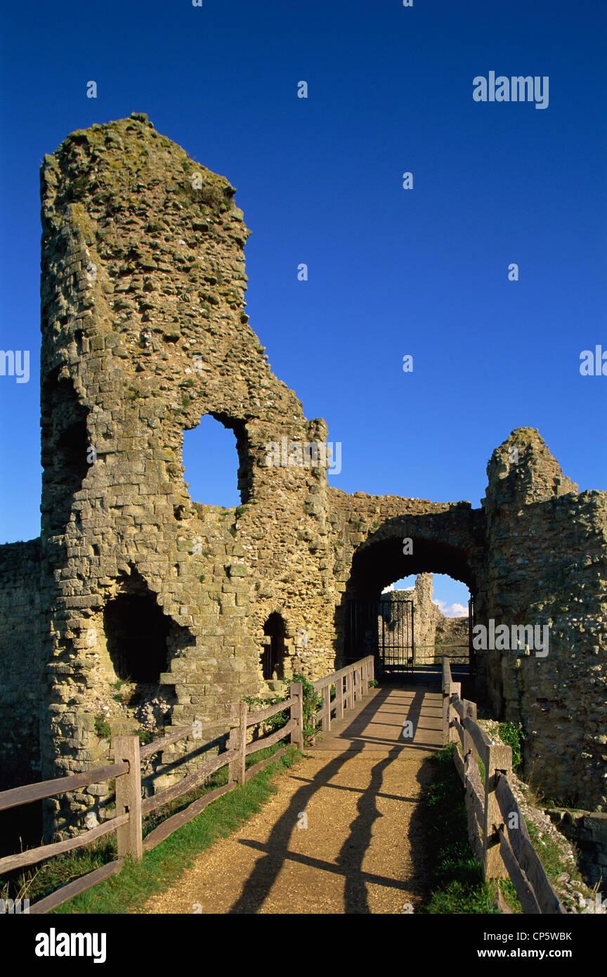 England, Sussex, Pevensey Castle Stockbild