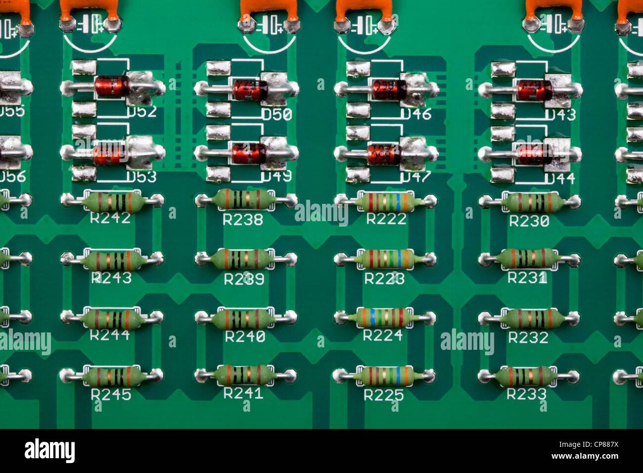 Detail einer Computer-Platine, Detail Einer Computer-Platine Stockbild