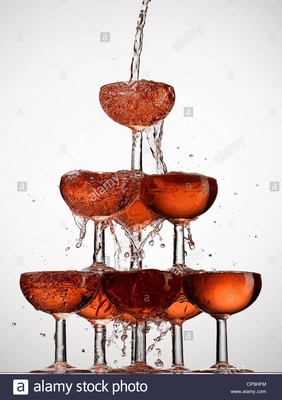 Fülle, Blase, Feier, Champagner, Champagner-Glas, Farbbild, Konzept, Energie, Überschuss, Überschwang, Stockbild