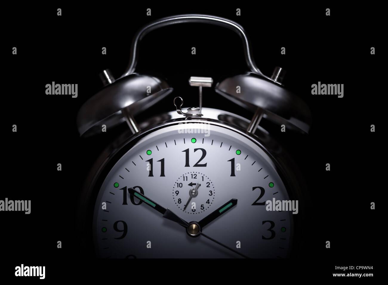 Wecker-Schlaflosigkeit Stockbild