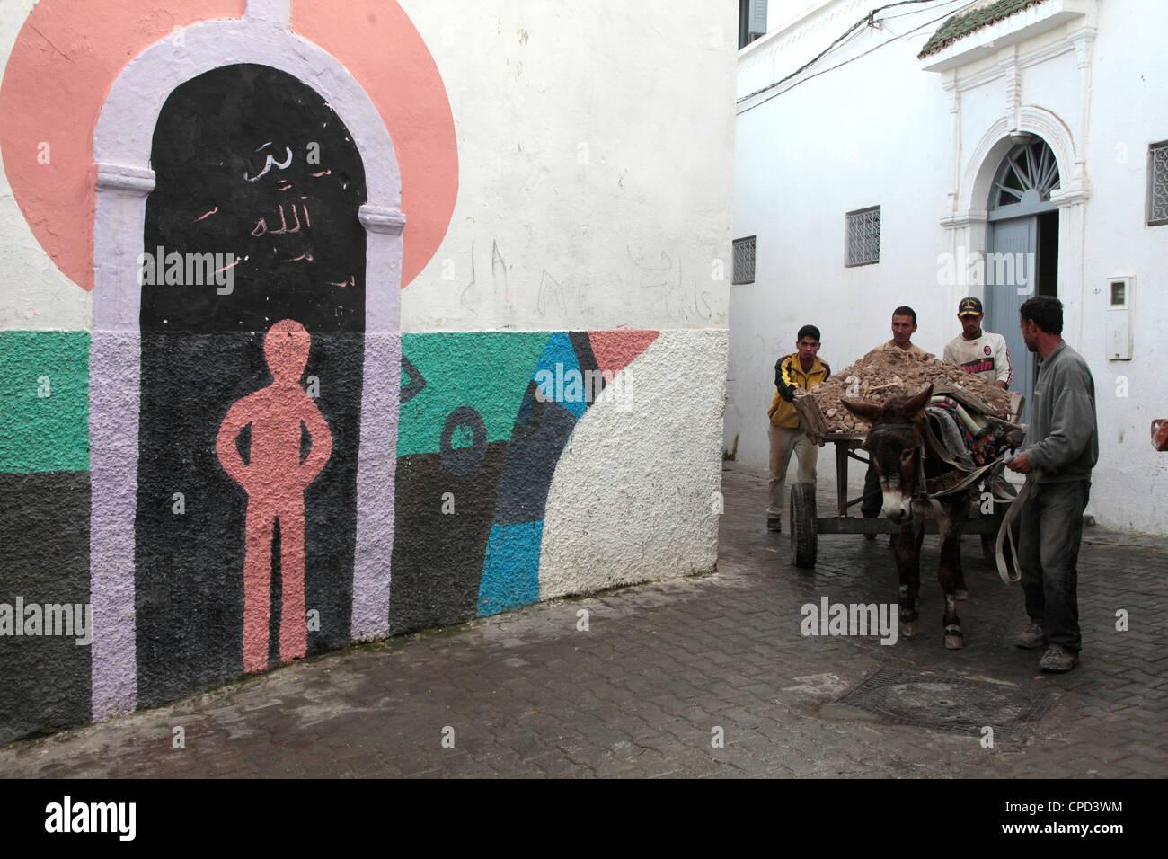 Alltag in Azemmour, Marokko, Nordafrika, Afrika Stockbild