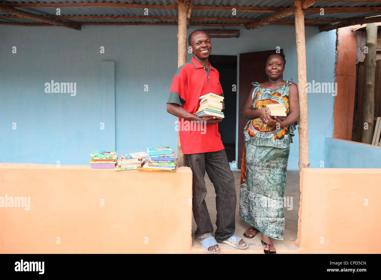 Stadtteil-Bibliothek, Lome, Togo, West Afrika, Afrika Stockbild