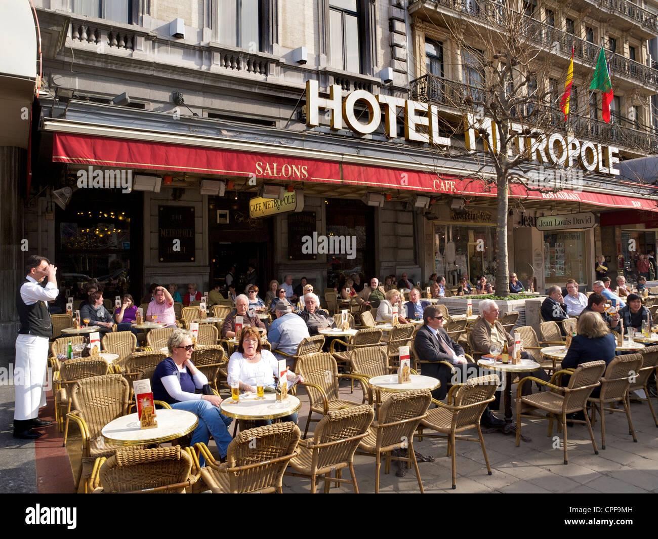Hotel Metropole in Brüssel, Belgien, eines der bekanntesten grand Hotels in der belgischen Hauptstadt. Stockbild
