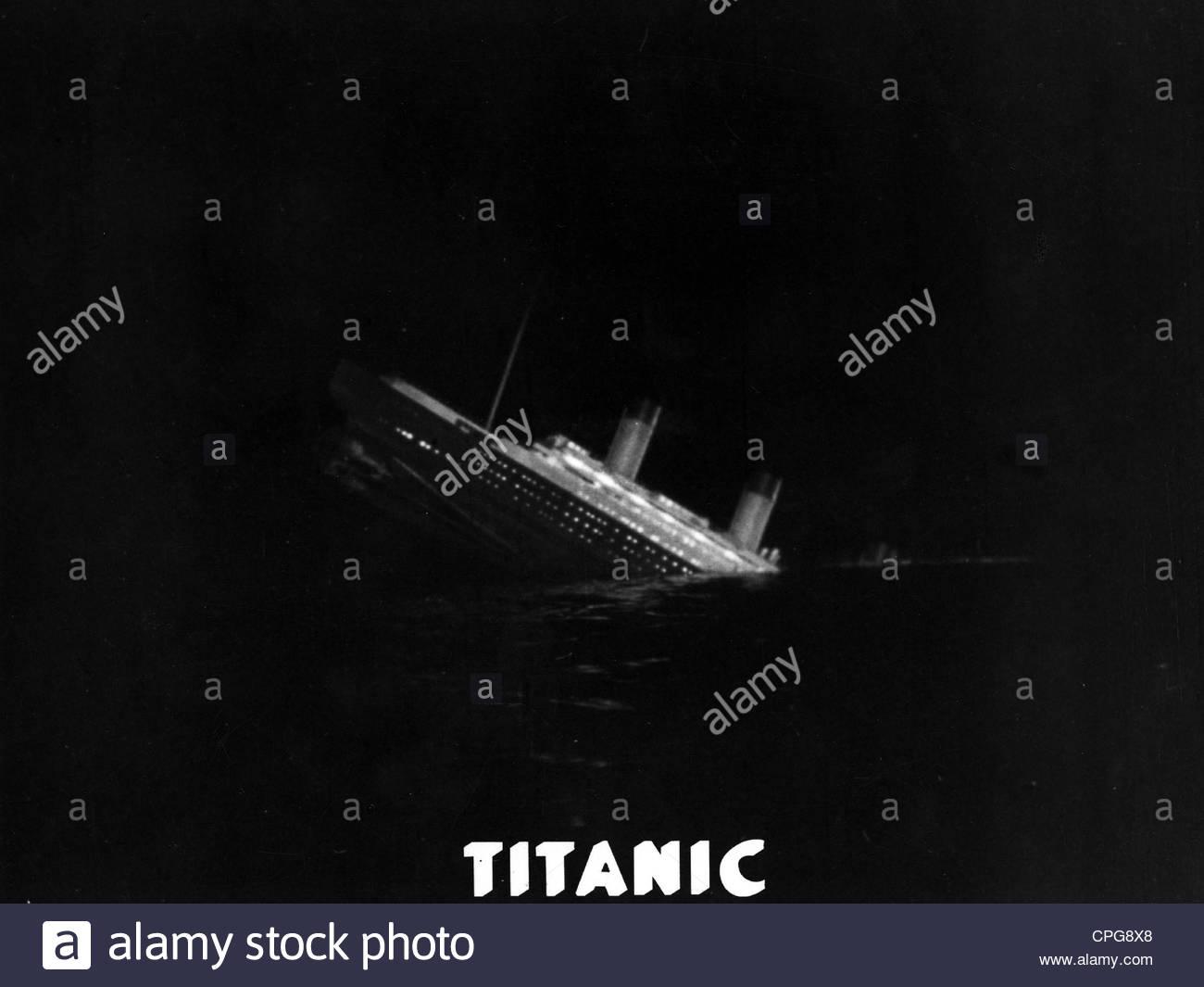 "Film ""Titanic"", Deutschland 1943, Regie: Herbert Selpin, Werner Klingler, sinkende Schiff, Katastrophenfilm, Stockbild"