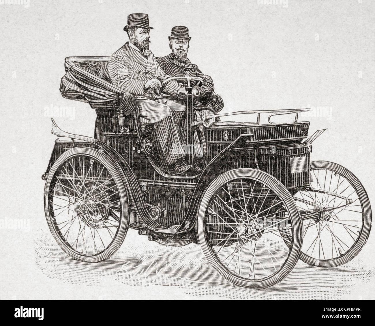 Eine frühe Rochet-Schneider-Motorwagen. Von l ' Illustration veröffentlicht 1897. Stockbild