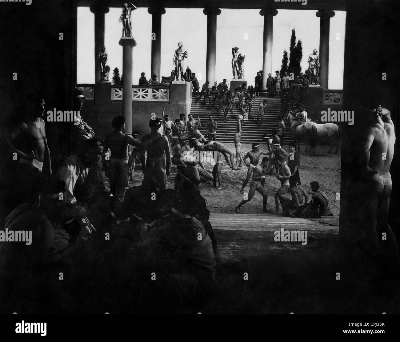 Gladiatorenschule im alten Rom Stockbild