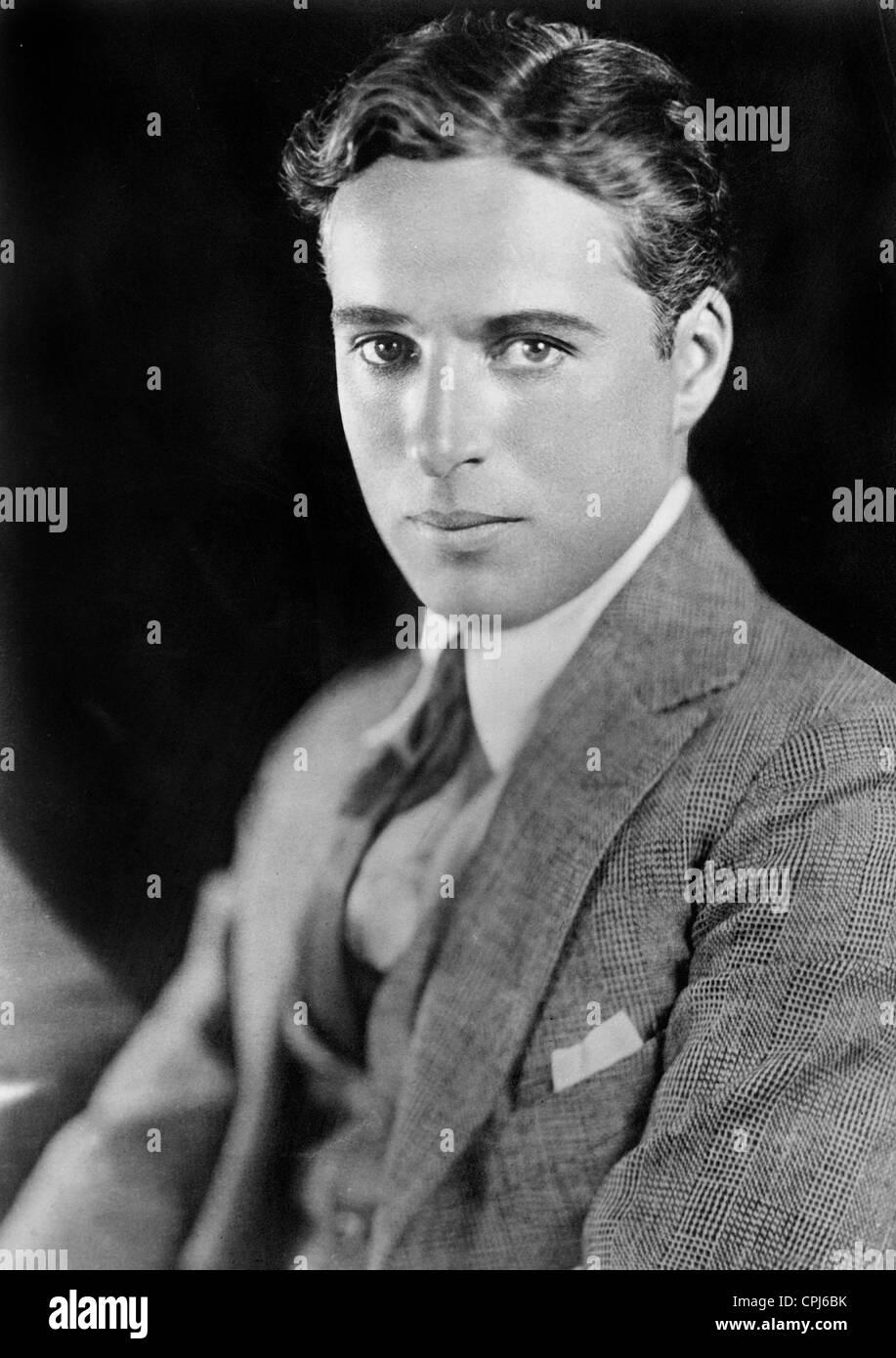 Britischer Schauspieler und Regisseur Charles Chaplin (1889-1977). Stockbild