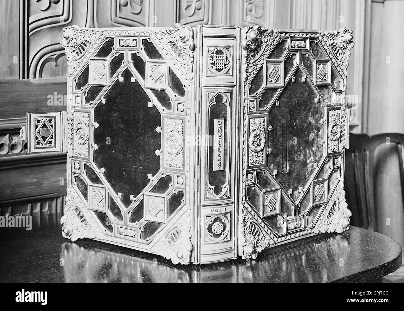 """Luxusausgabe von Ackermanns """"Geschichte der Westminster Abbey"""" Stockbild"""