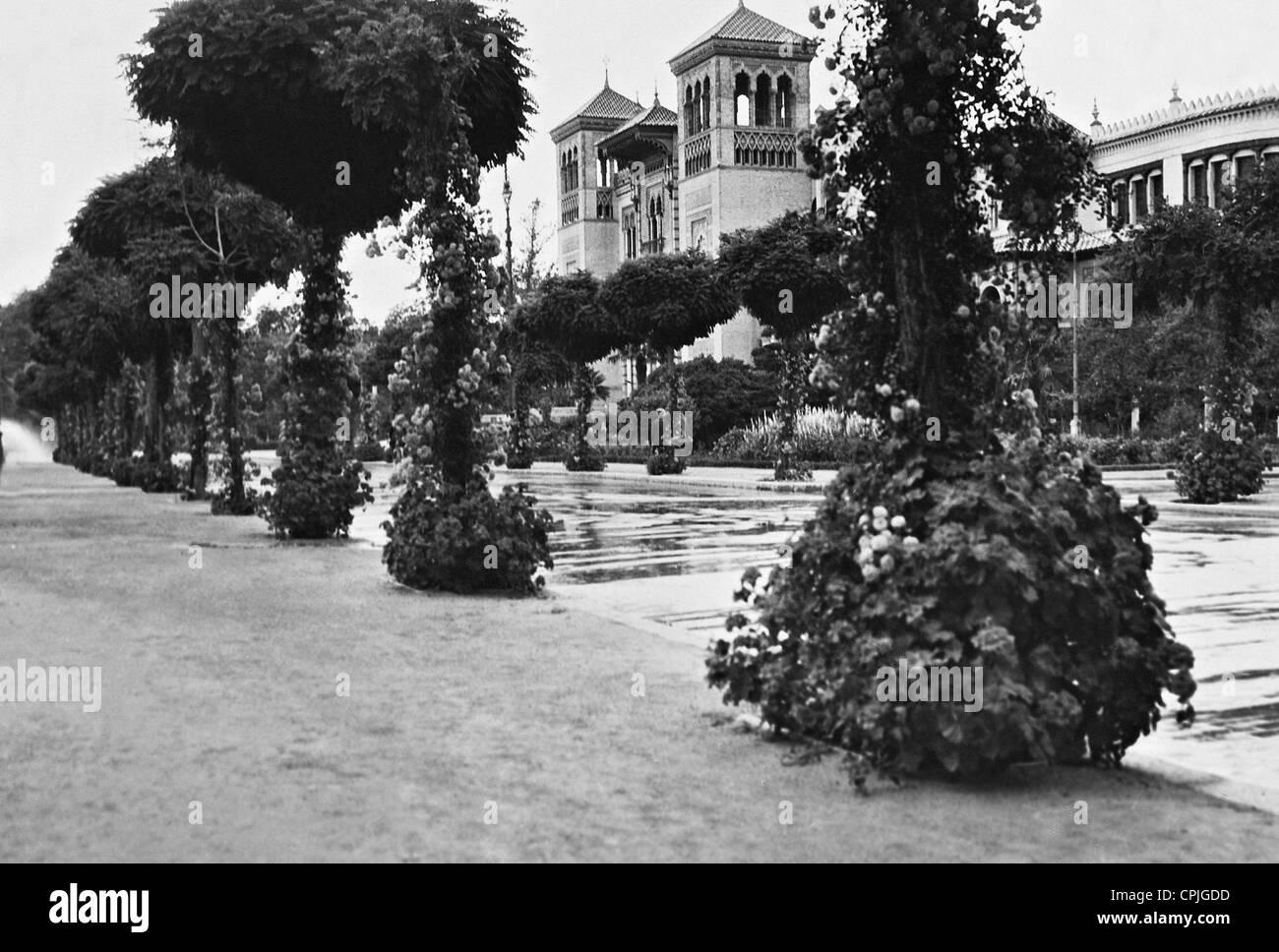 Lateinamerikanische Ausstellung in Sevilla, 1929 Stockbild