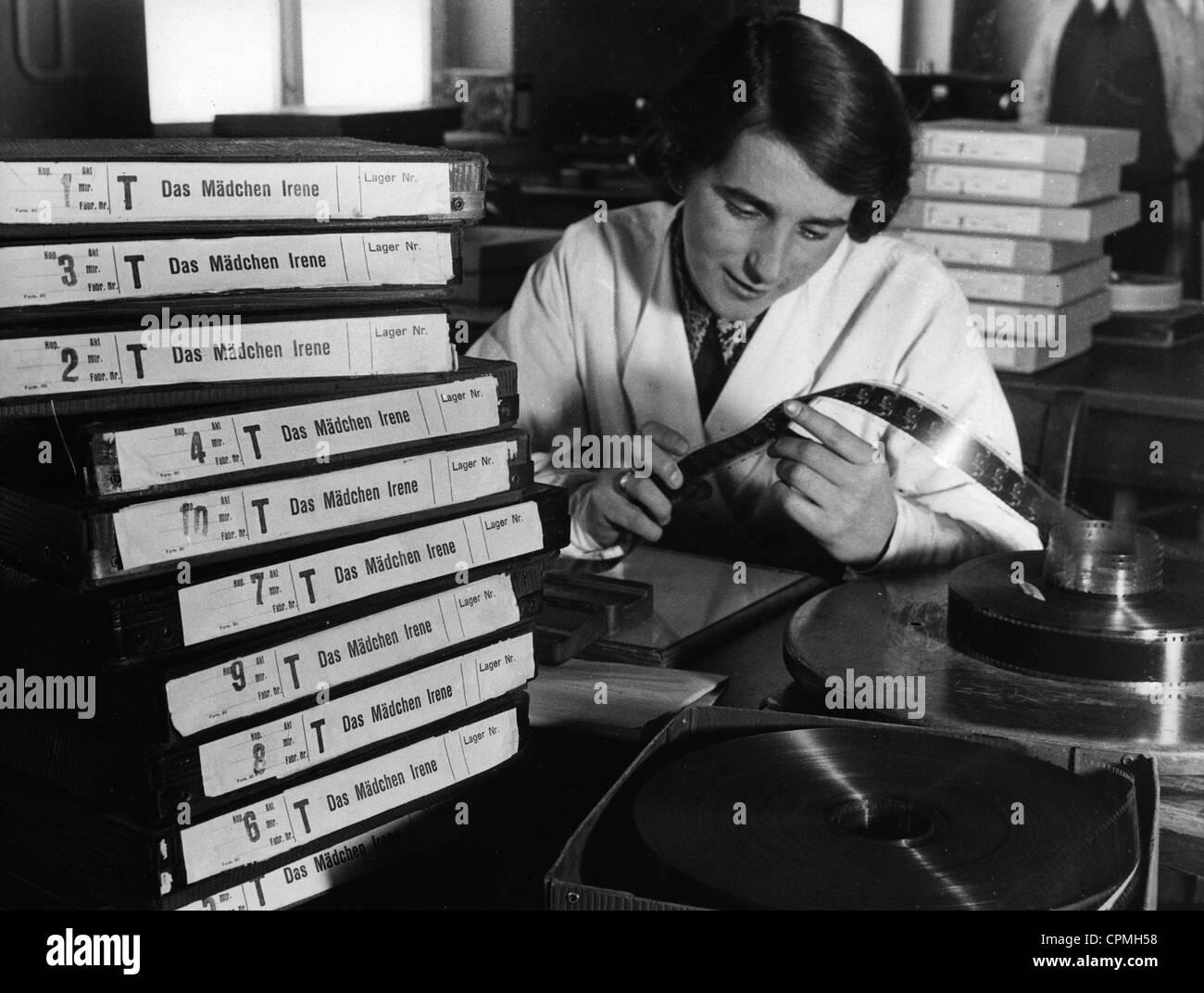 Film-Labor, 1936 Stockbild