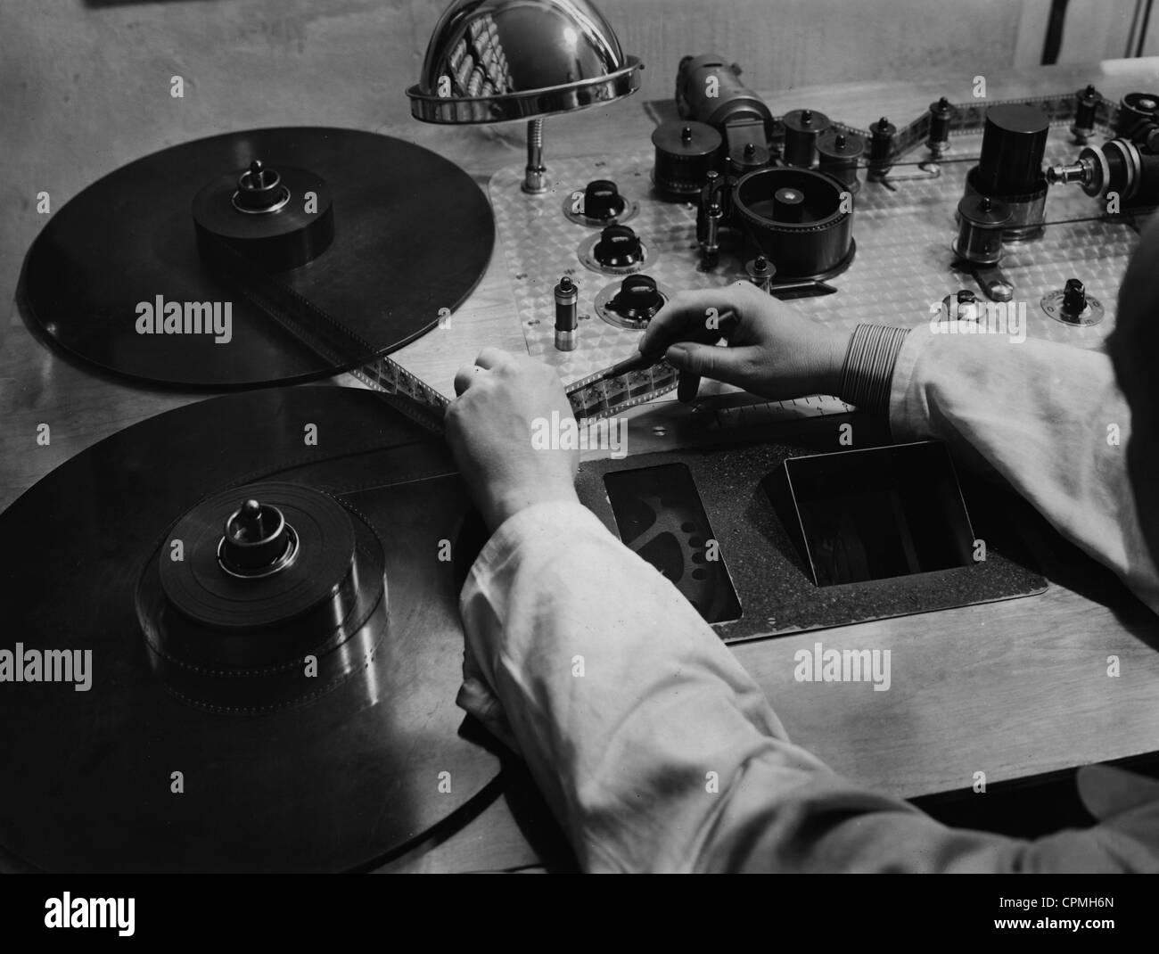 Film-Labor in Berlin, 1935 Stockbild