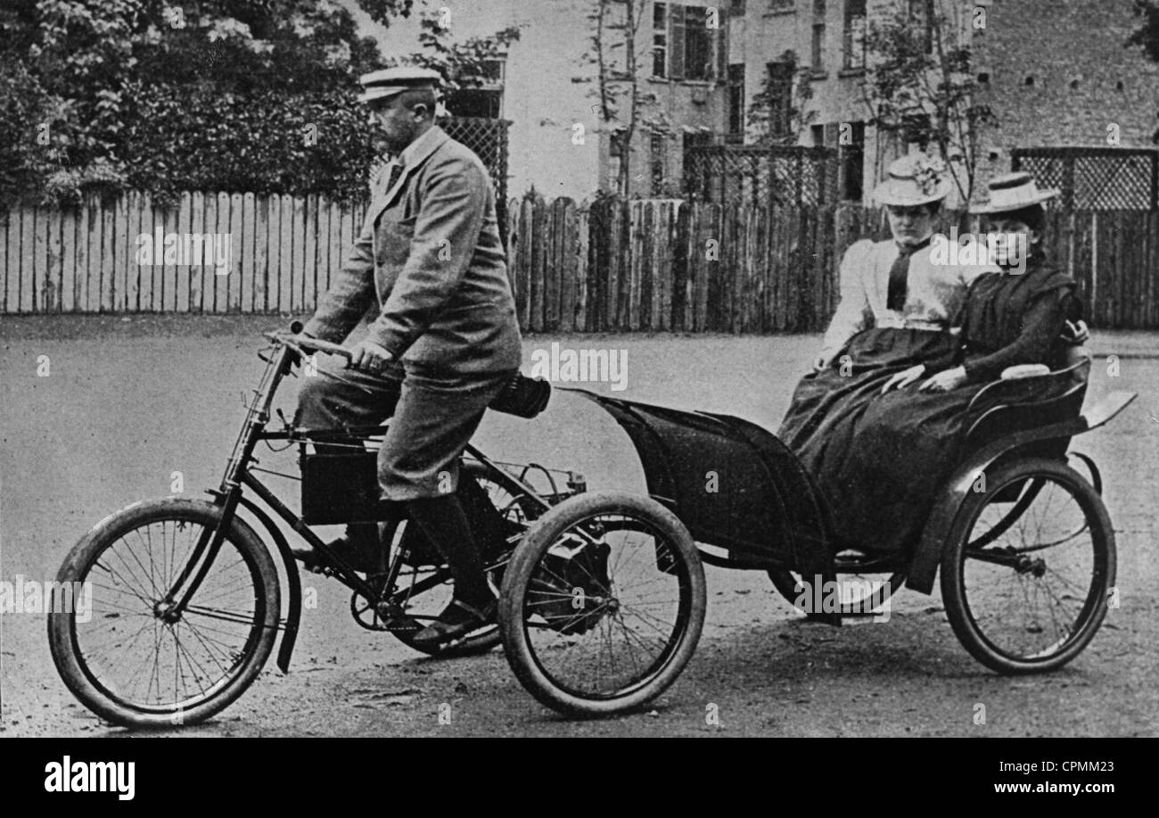 Motor Dreirad, 1899 Stockbild