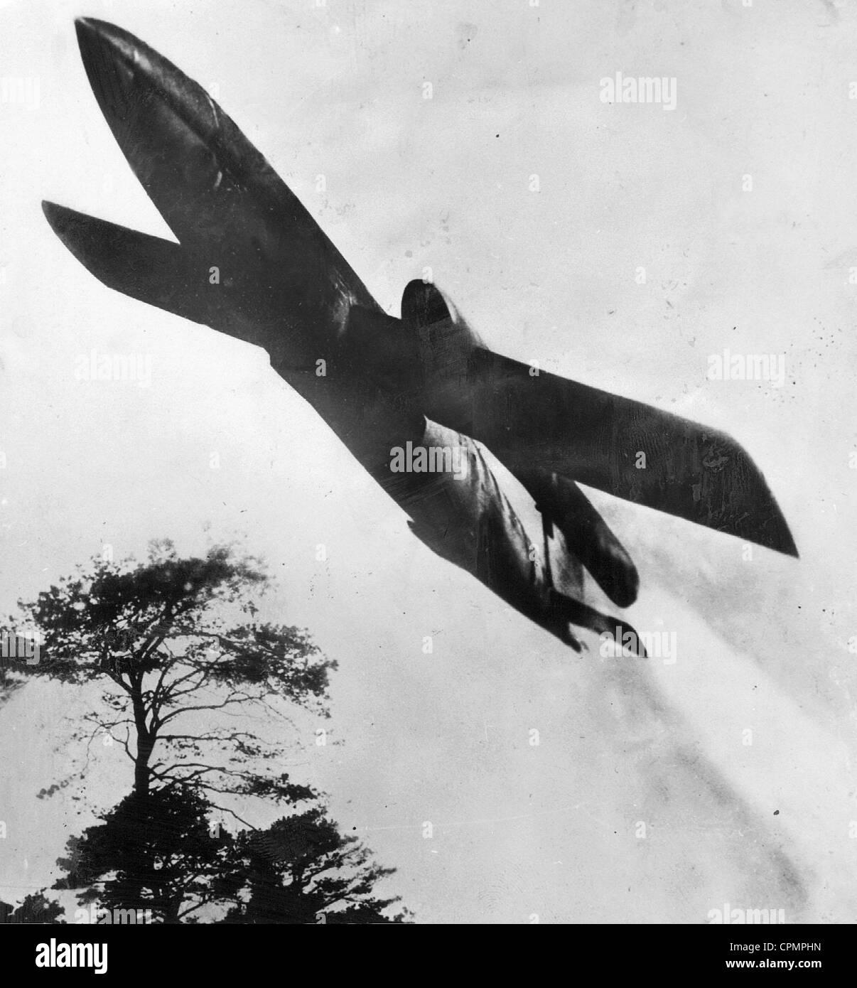 Deutsch V1 nach dem Start, 1944 Stockbild
