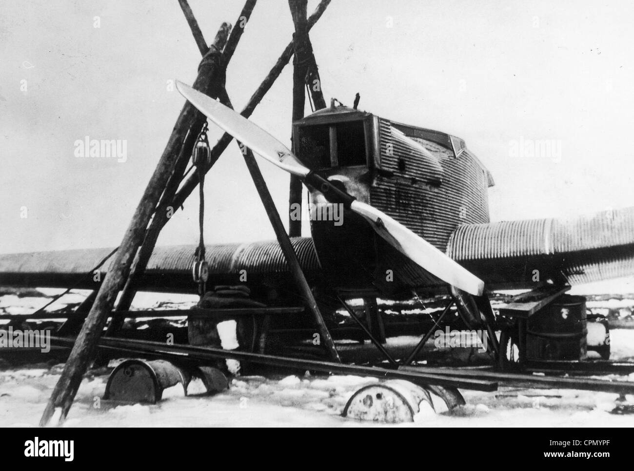 Die Junkers Motor Bremen nach seiner legendären Transatlantik-Flug, 1928 Stockbild