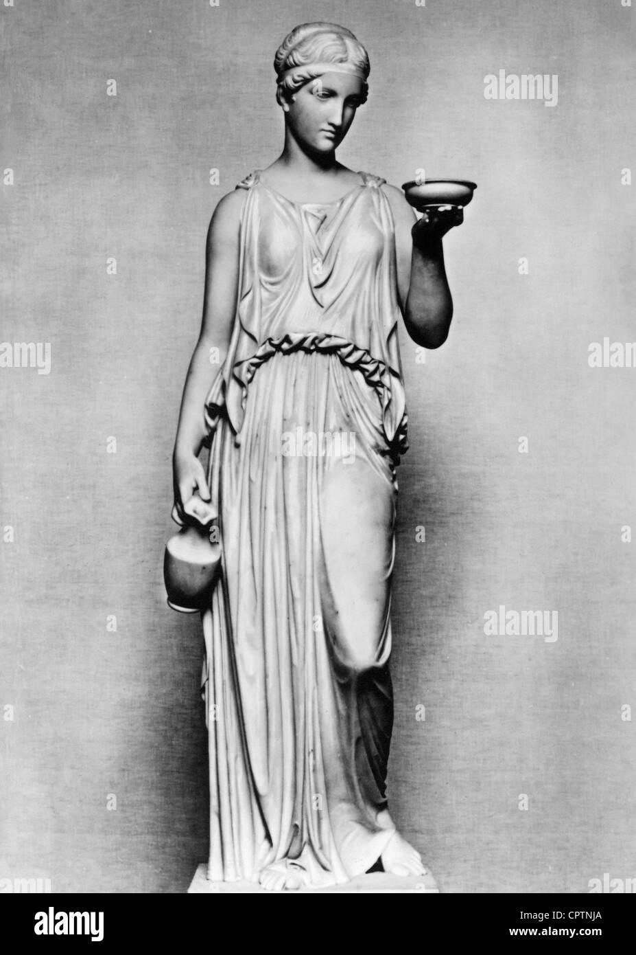 Hebe (lateinisch: Iuventas), griechische Göttin der Jugend, Skulptur von Bertel Thorvaldsen (1768-1844), 1816, Stockbild