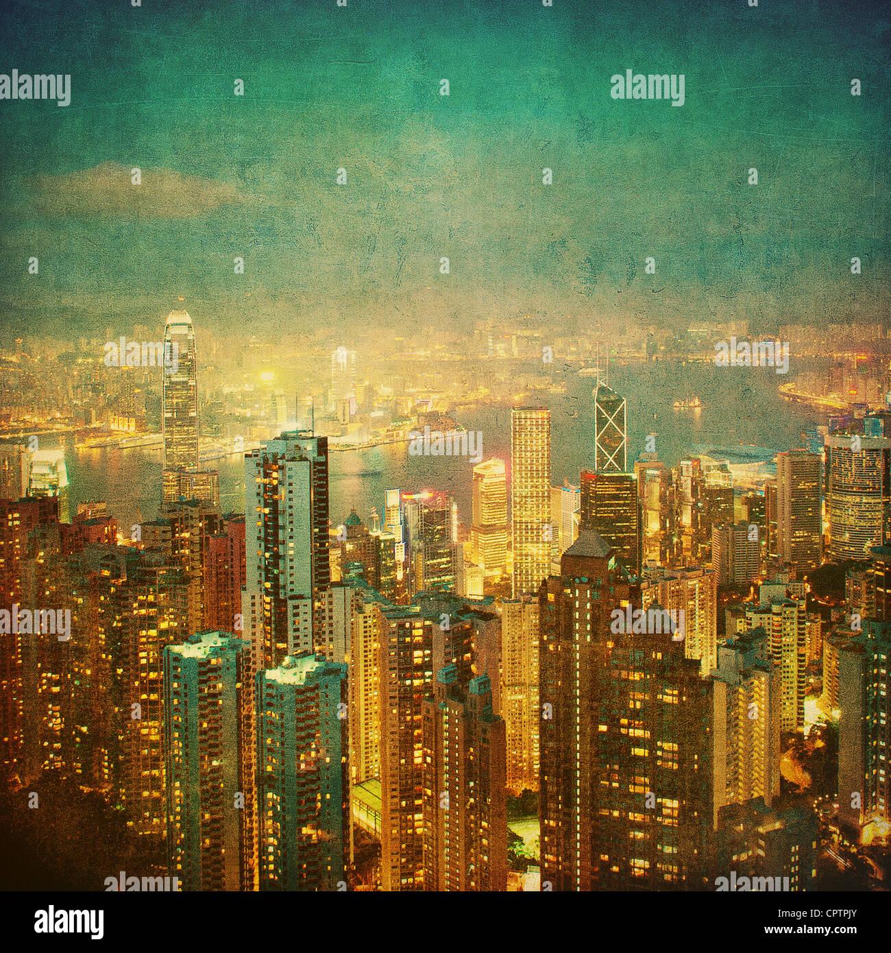 Vintage Bild von Hong kong Stockfoto