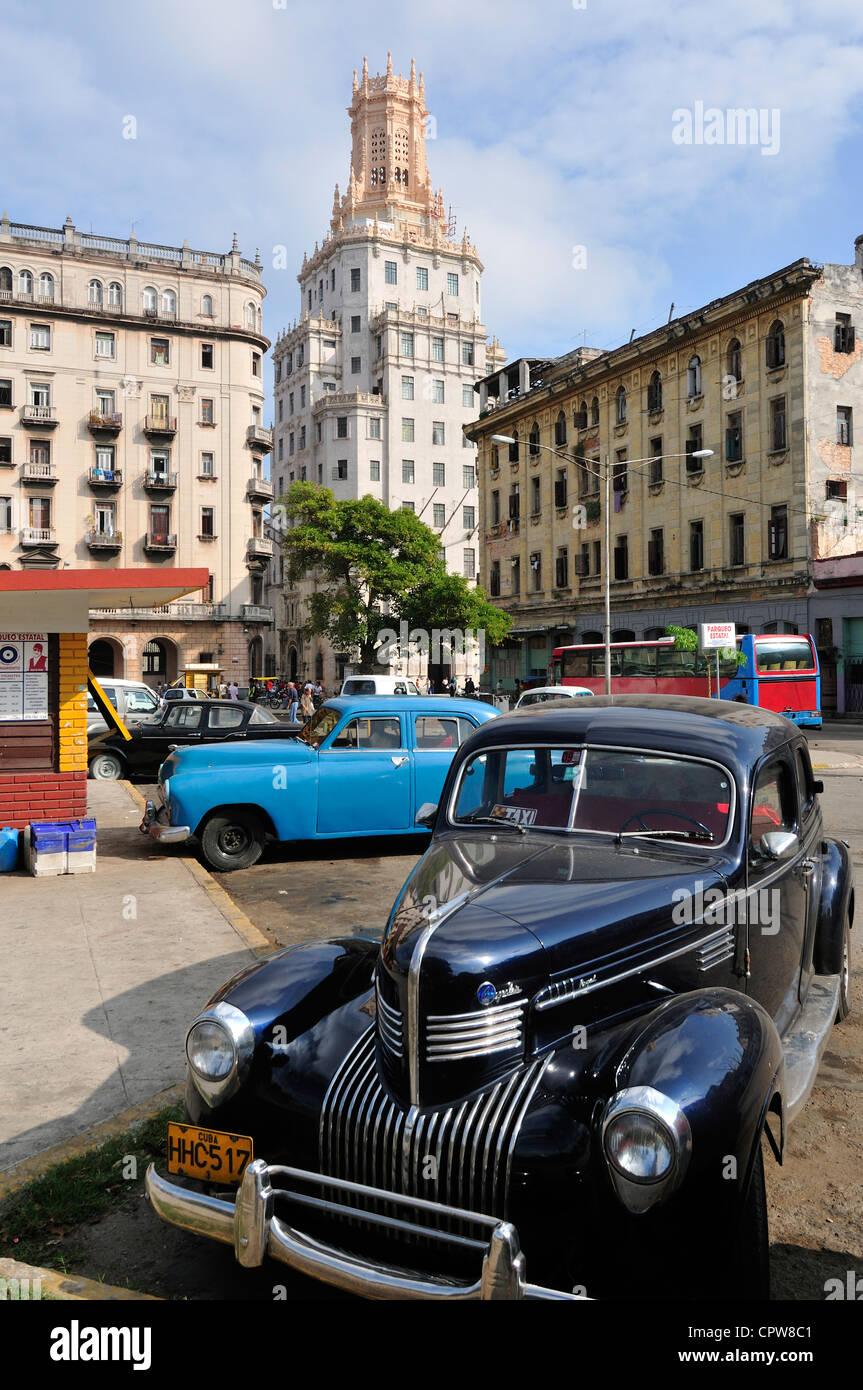 Havanna. Kuba. Kubanische Telefongesellschaft Gebäude (1927), von der kubanischen Architekturbüro Morales Stockbild