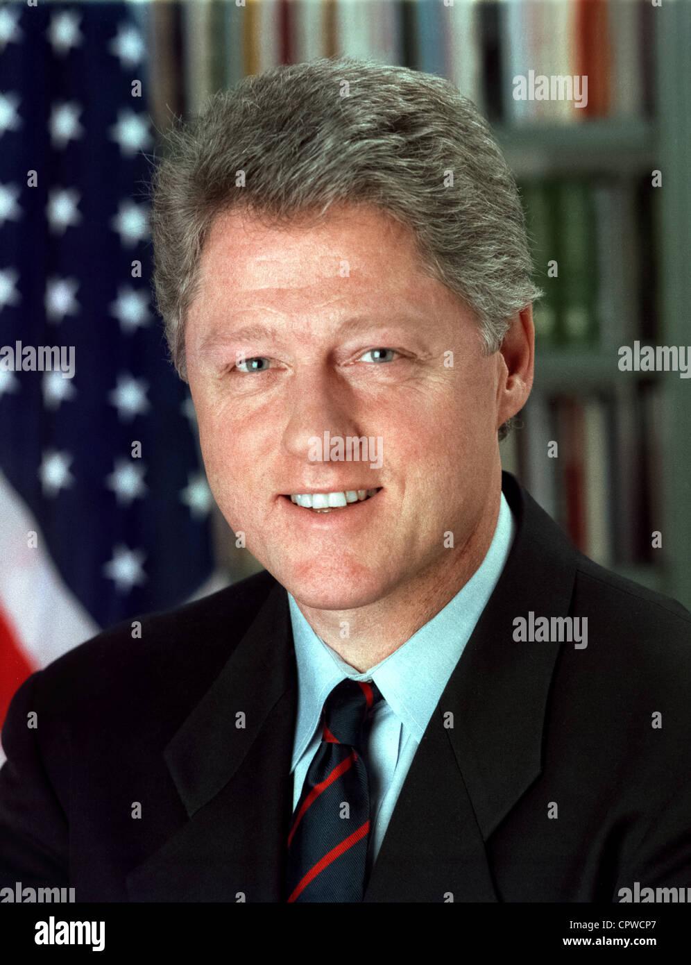 """Bill Clinton, Präsident Bill Clinton, William Jefferson Bill"""""""" Clinton, 42. Präsident der Vereinigten Stockbild"""