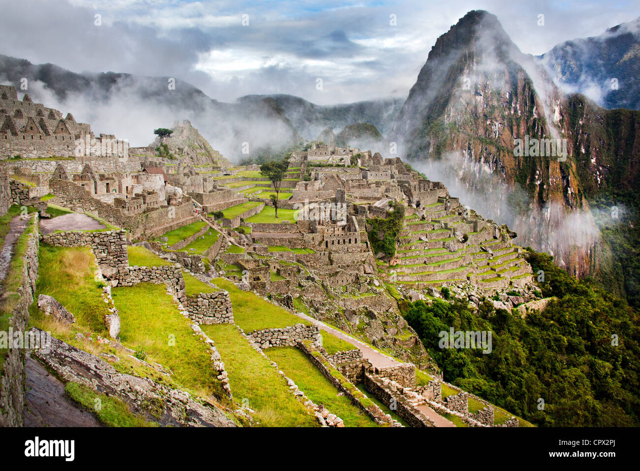 Machu Picchu, Peru, Südamerika Stockbild