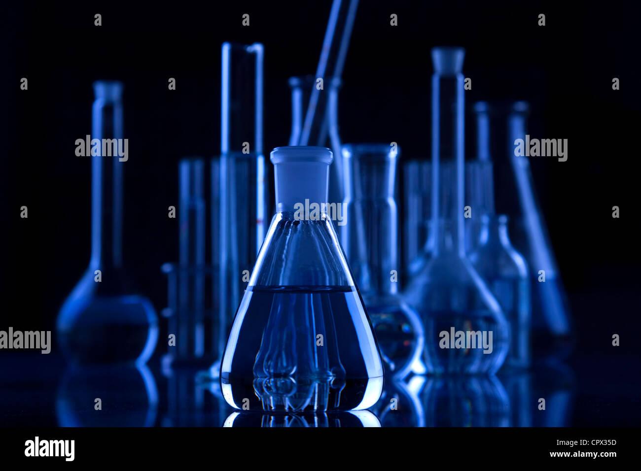 Laborglas Stockbild