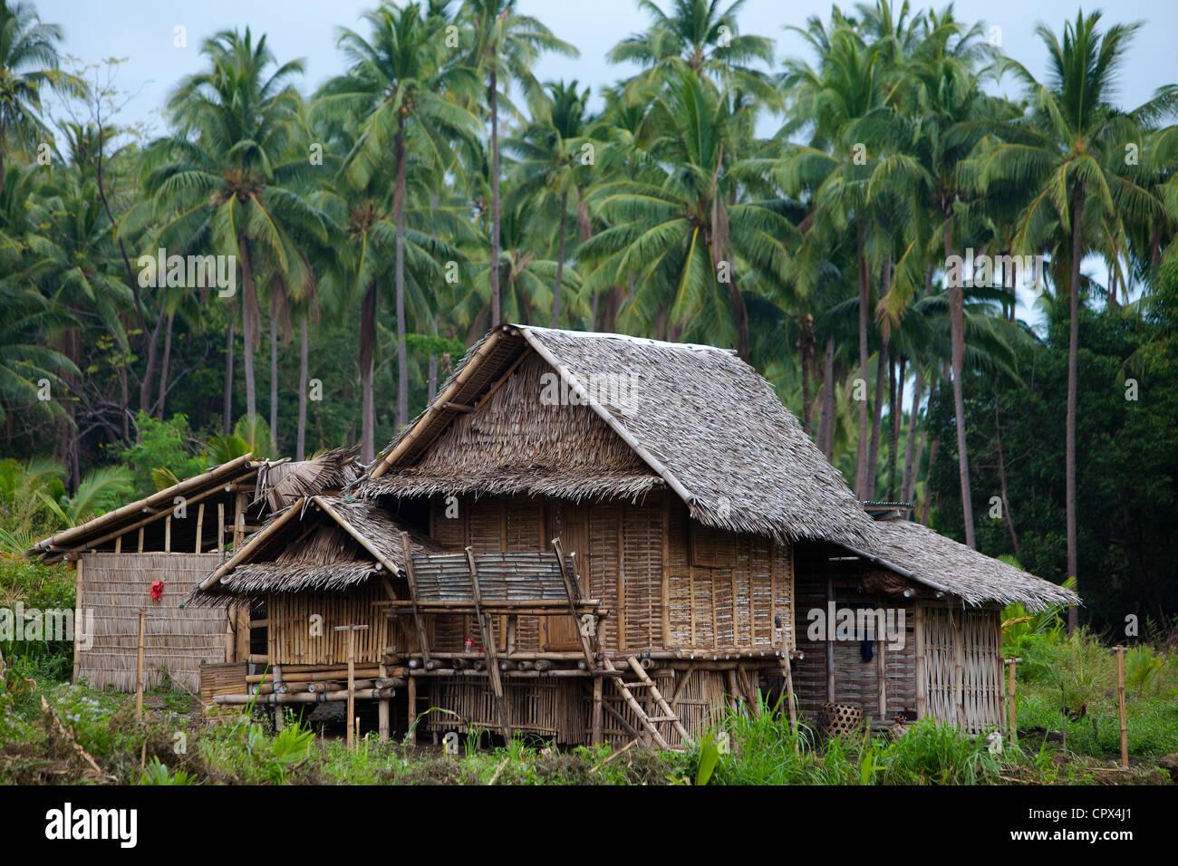 ein typisches Haus im Wald, Negros, Philippinen Stockbild