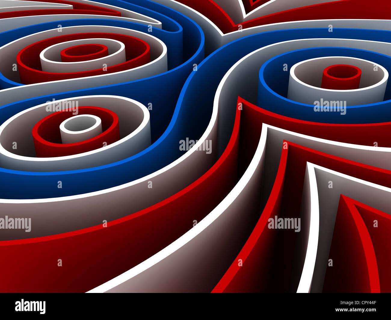 Abstrakte 3D-Render bunte Figuren Stockbild