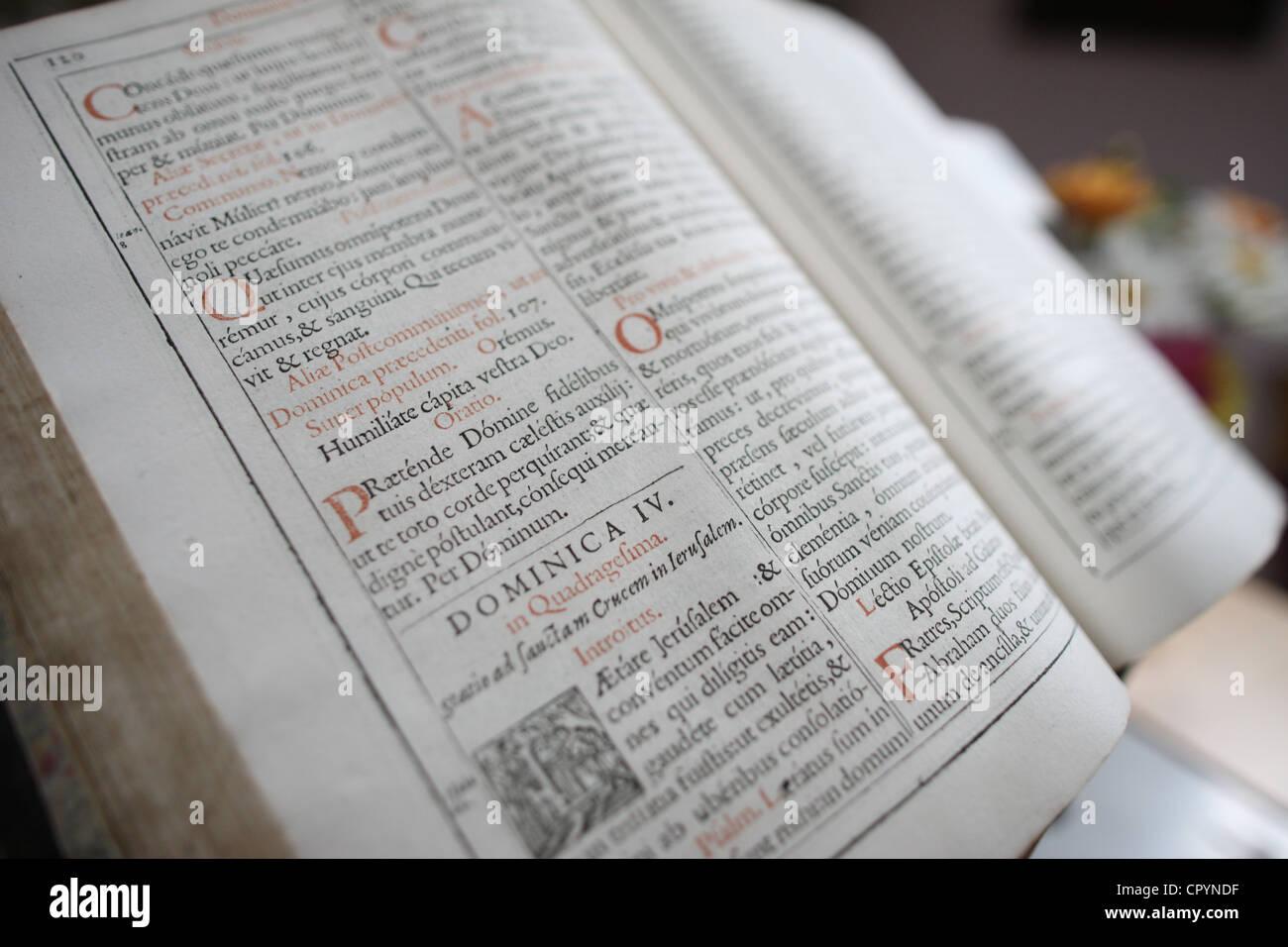 Lateinische Bibel, Frankreich, Europa Stockbild