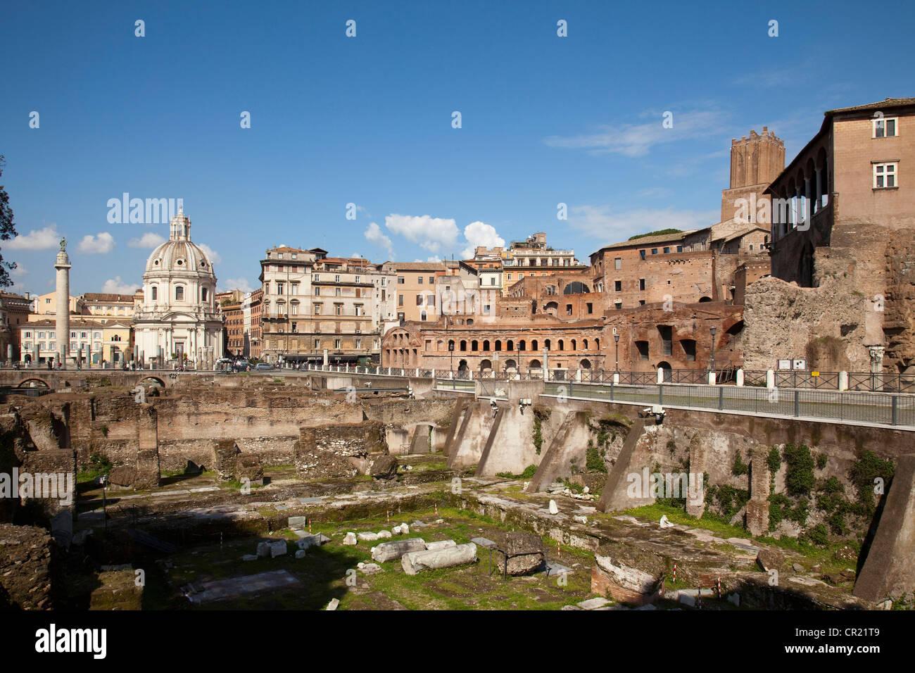 Alte Ruinen in Rom Stockbild
