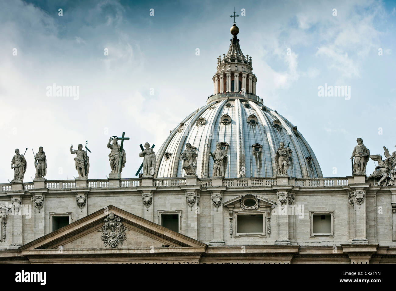 Statuen von St.-Peters-Platz in Rom Stockbild