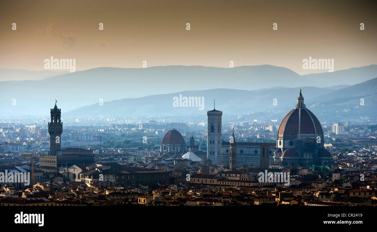 Luftaufnahme des Stadtbildes Stockbild