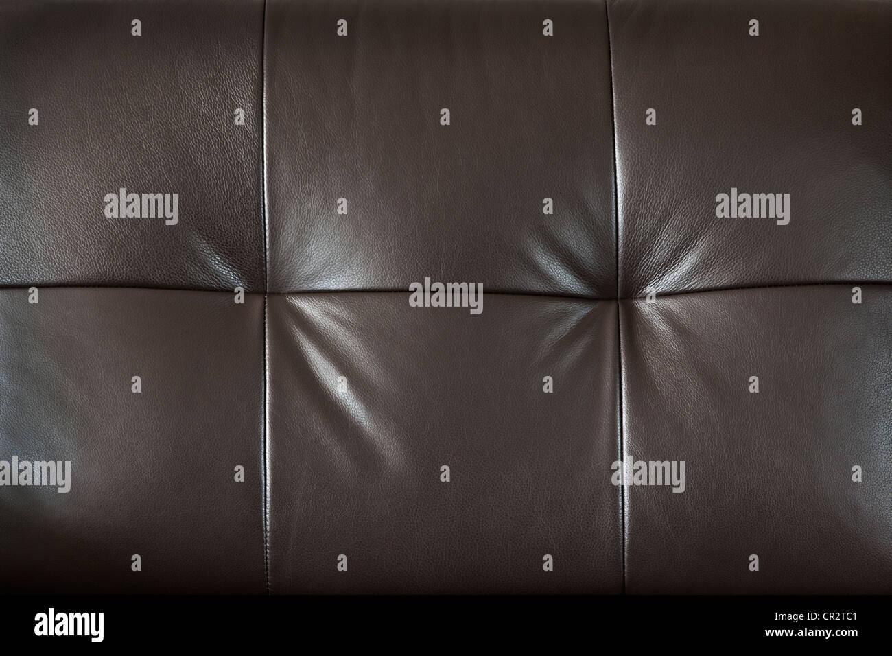 Nahaufnahme des luxuriösen teuer braune Ledermöbel, Hintergrund Stockbild