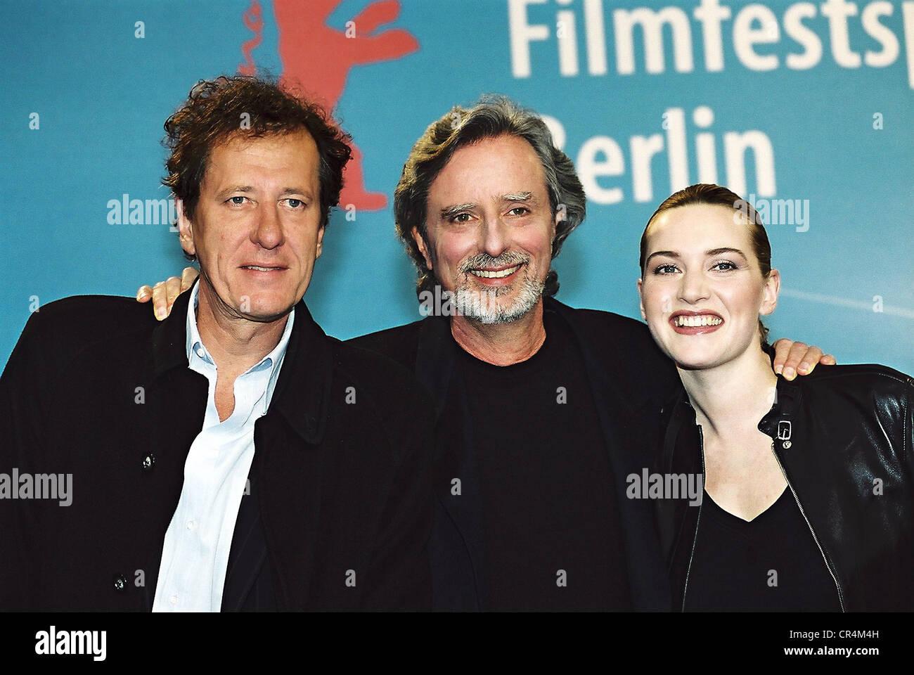 Winslet, Kate, * 5.10.1975, britische Schauspielerin, Gruppe Bild. mit Philip Kaufmann, US-Regisseur und Geoffrey Stockbild