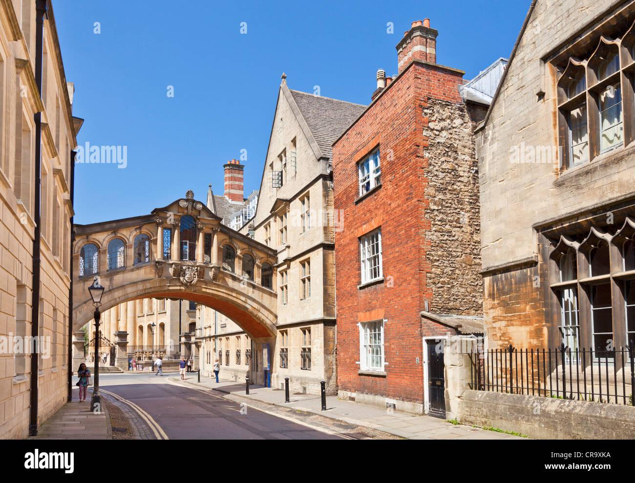 Die Seufzerbrücke oder das Hertford Brücke neue College Lane Oxford Oxfordshire England UK GB EU Europa Stockbild