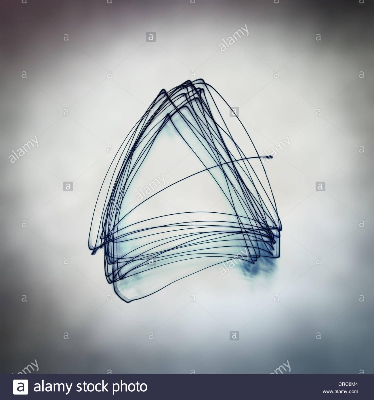 dreieckige abstrakt Stockbild