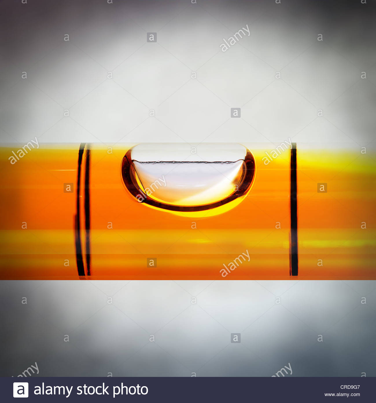 Wasserwaage Blase hautnah Stockbild