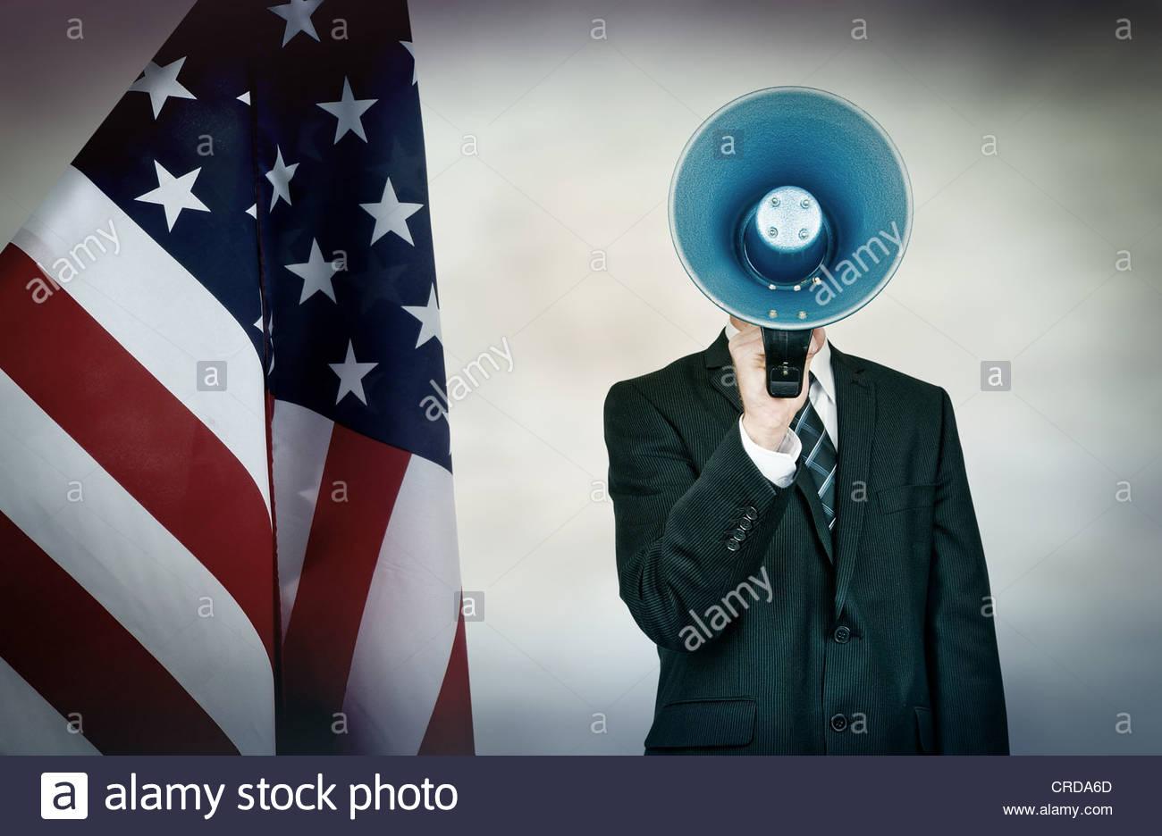 US-amerikanischer Politiker Stockbild