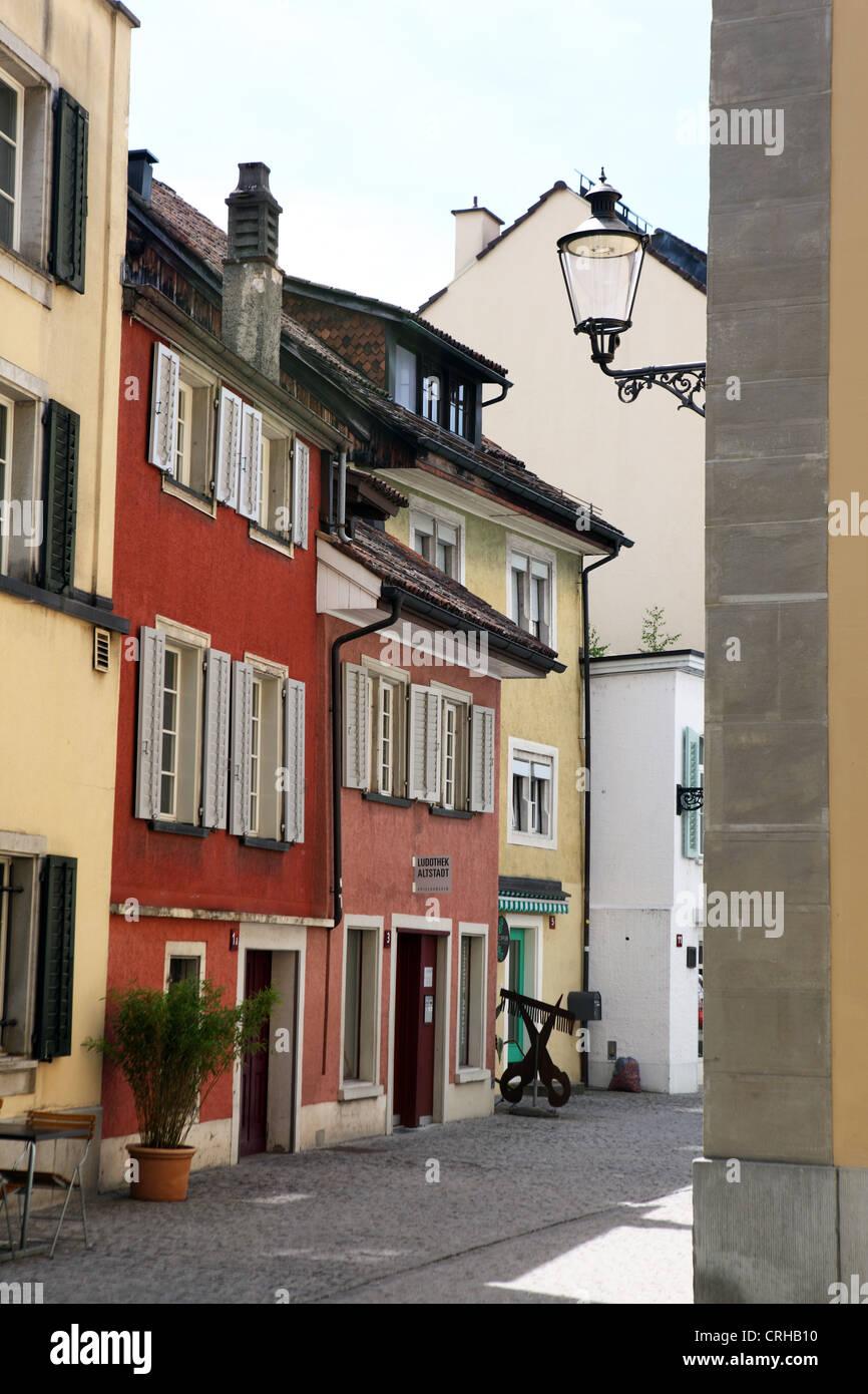Winterthurer Altstadt Straßenbild, Schweiz Stockbild