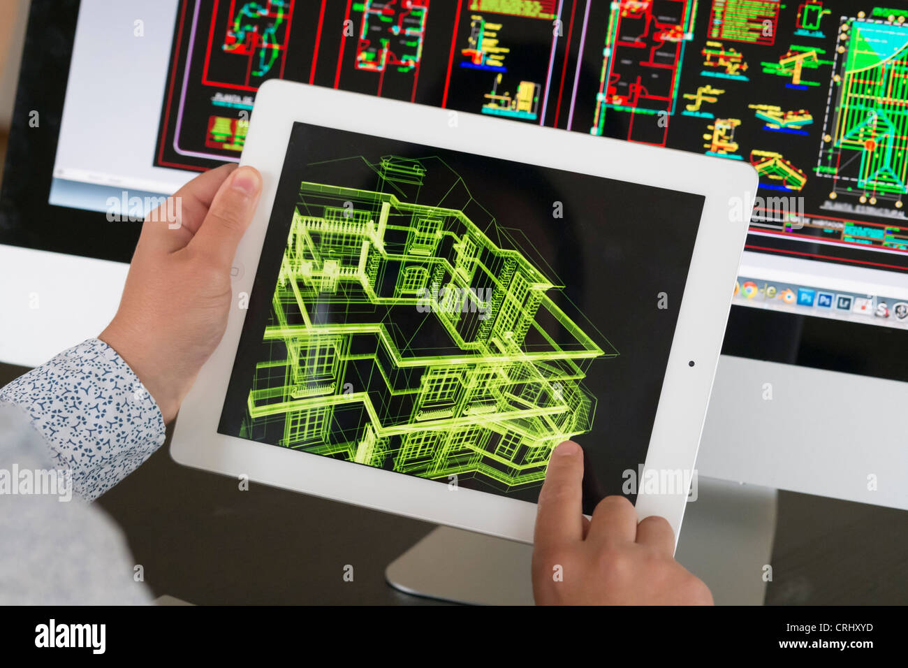 Architekt Anwendung iPad CAD-Computer Aided Design, Modell 3D Layout ...