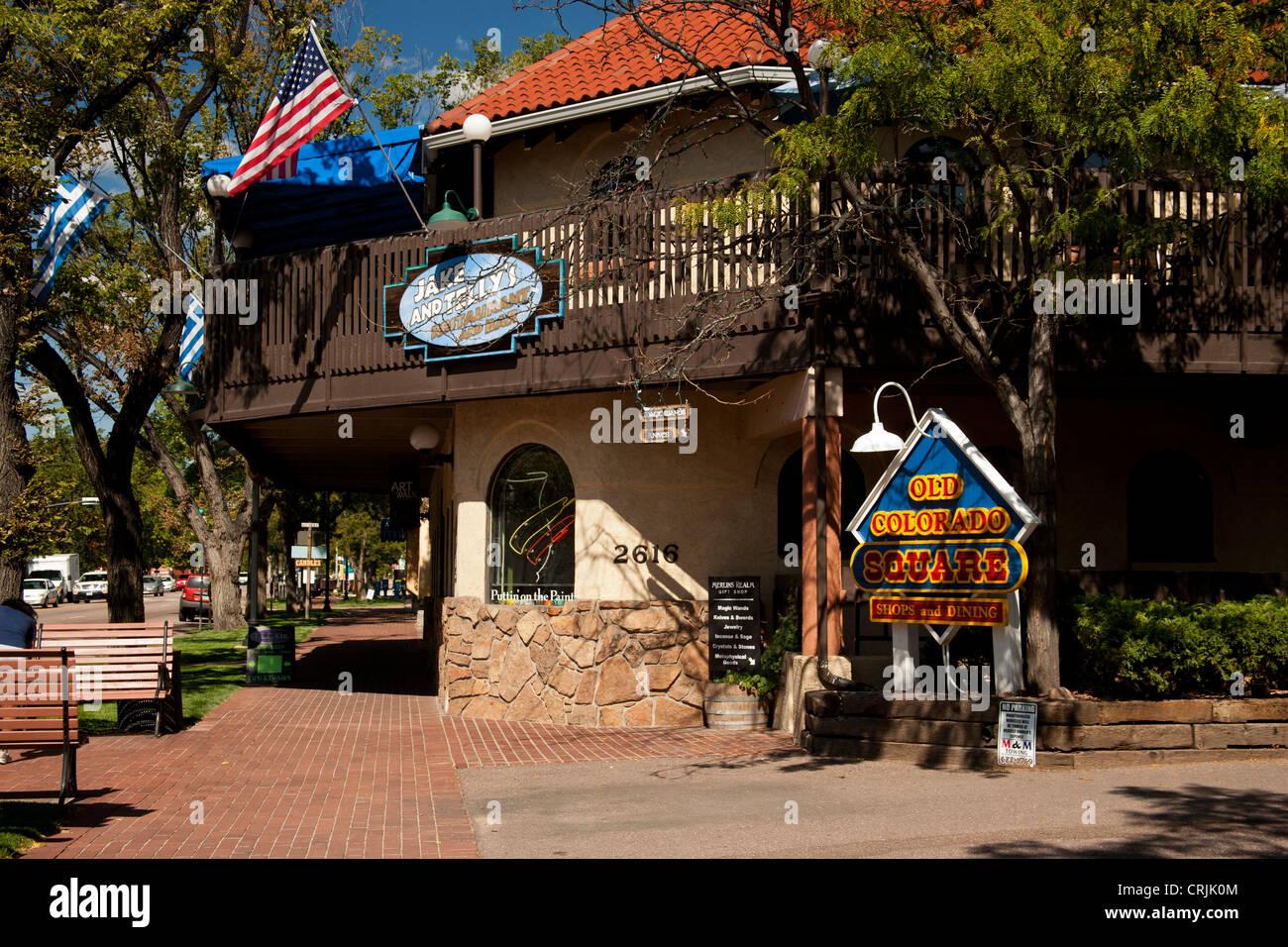 Nordamerika, USA, Colorado, alte Colorado Springs Straßenbild Stockbild