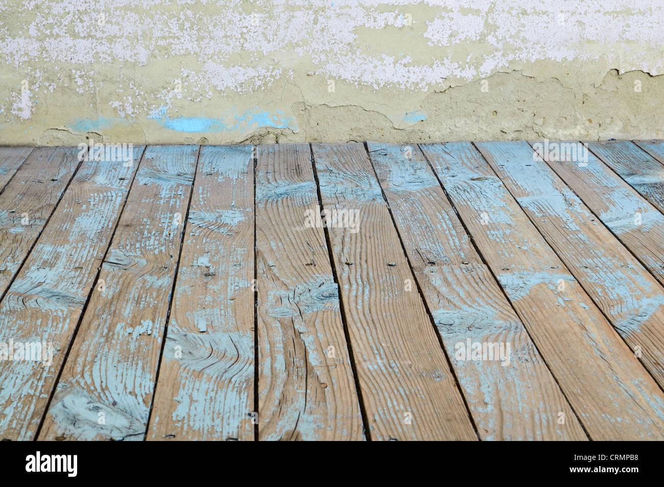Grunge-Innenwand und Boden Stockfoto