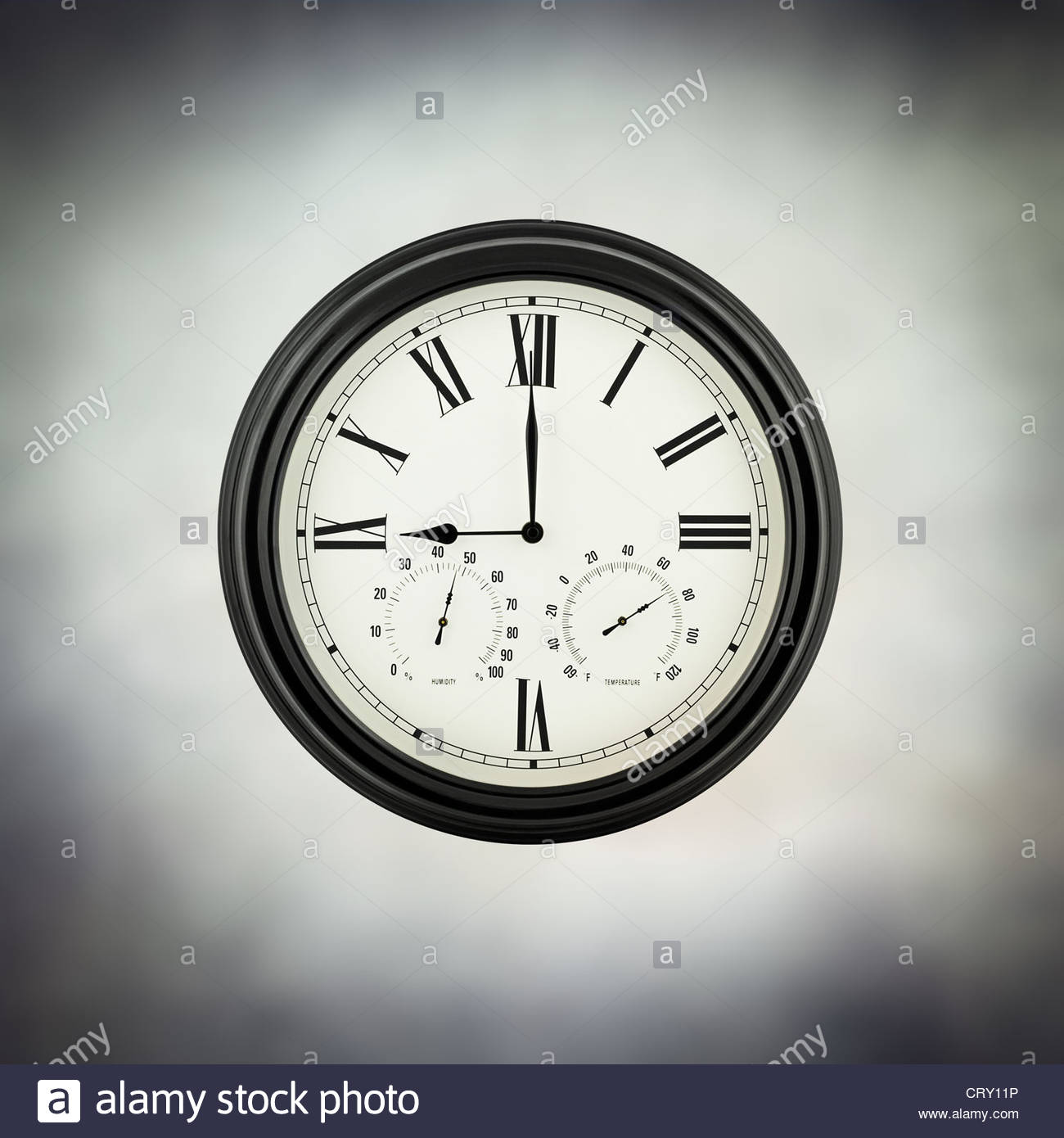 neun Uhr Stockbild