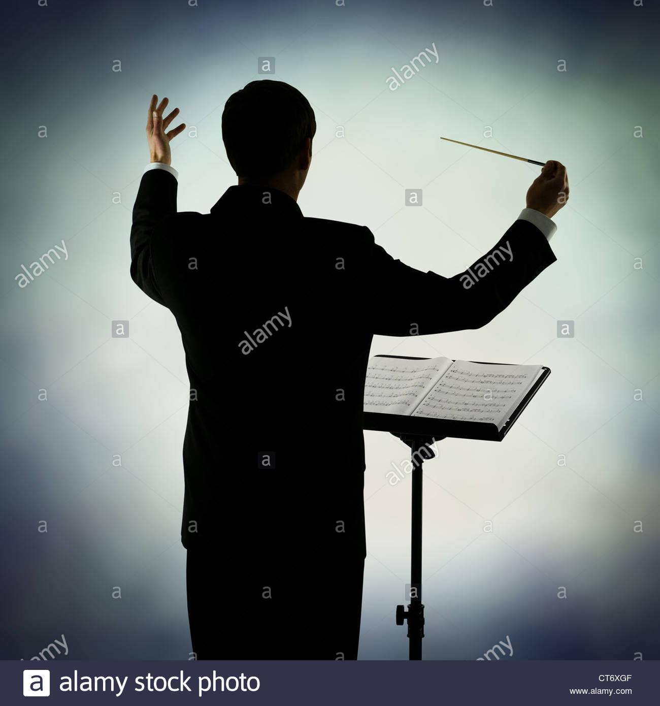 Dirigent Stockbild