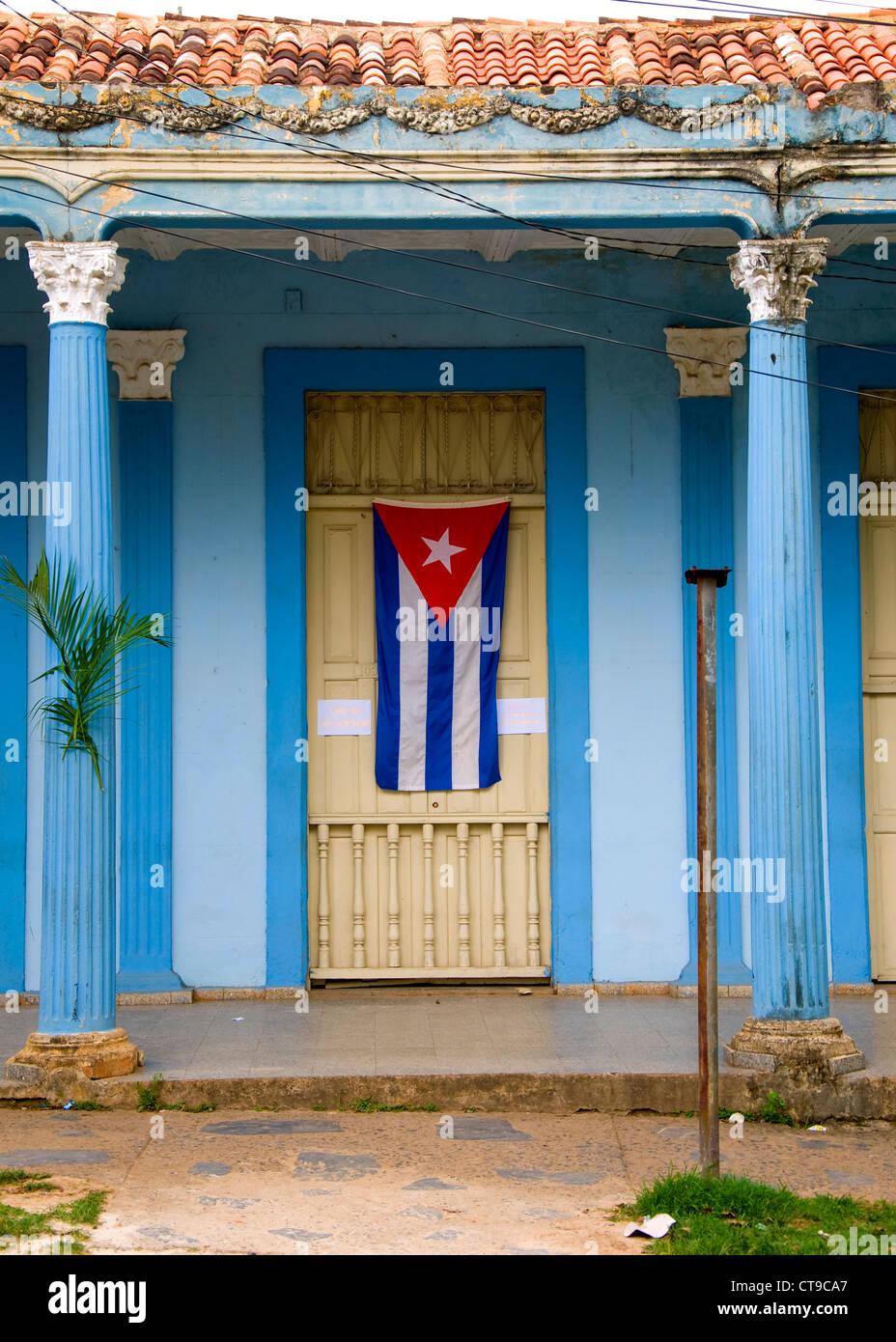 Kubanische Flagge, Viñales, Kuba Stockbild